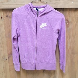 Nike girls zipper hoodie sweatshirt. Size large